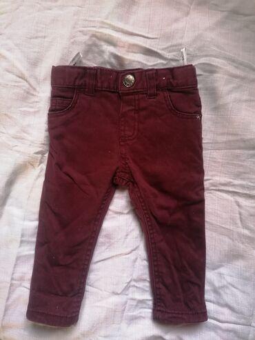 Pantalone vel. 74 za uzrast do 9 meseci, pamuk, podesive u struku