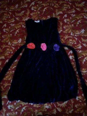 детское платье,тёмно-синее на 3-5 лет,очень красивое в Бишкек