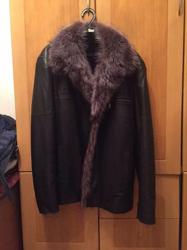 Новая мужская куртка кожа и мех в Лебединовка