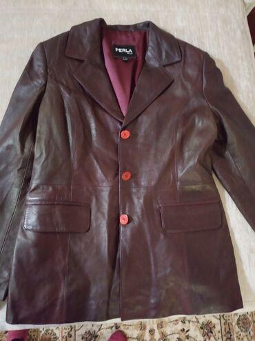 дешего в Кыргызстан: Продаю кожаный пиджак производство Турция, брэнд Perla. Размер L