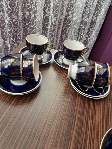 6 чайных пар,кобальт.Состояние отличное. Локация Ени Ясамал