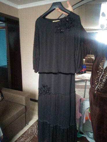 чёрное вечернее платье в пол в Кыргызстан: Вечернее, чёрное платье в пол
