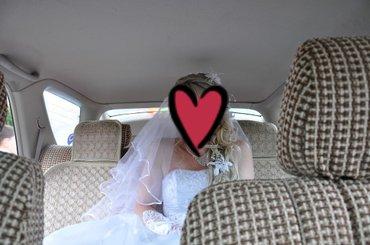 (Сокулук) Фата белоснежная. одевала 1 раз на свою свадьбу. средней