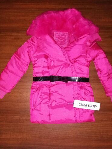 Куртка зимняя на девочку 4года DKNY