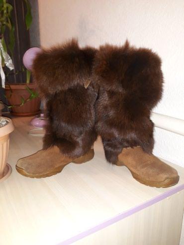 Сапоги натуралки, замша и мех лисы, 36 размер подойдет и на 37.  в Бишкек