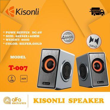 Brand - Kisonli Model - T-007 stereo Qida mənbəyi -Usb 5 Volt Qoşulma