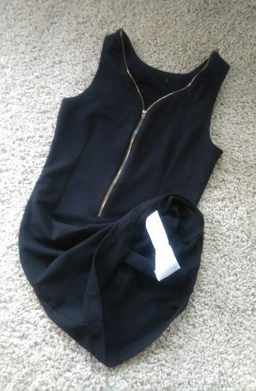 Haljina materijal elastin - Srbija: AMISU uska haljina Intezivno crne boje uska haljinica sa elastinom