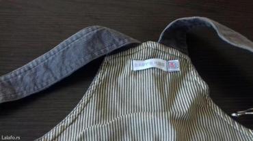 Farmerke na tregere - Srbija: Pantalone na tregere za dečake uzrast 6 mesecipar puta obucene