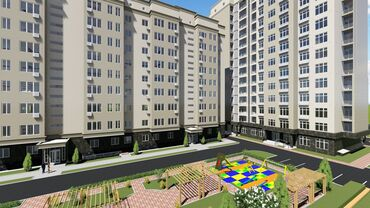 продается квартира в бишкеке в Кыргызстан: Строится, Индивидуалка, 1 комната, 42 кв. м