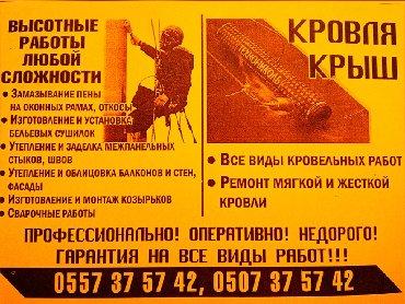 Кровля крыши - Кыргызстан: Высотные работы любой сложности методом промышленного альпинизма!