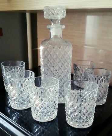 Универсальный Продаю хрустальный штоф и 6 стаканов под гравировка для