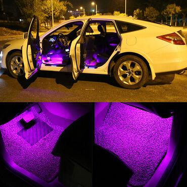 Upaljac - Srbija: LED dekor rasveta za enterijer auta, više boja, daljinskiLED