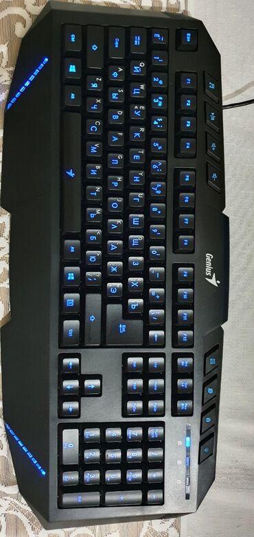 Клавиатуры - Кыргызстан: GeniusKB-G265Backlit Gaming Keyboard Только использовал 1 неделя Торг