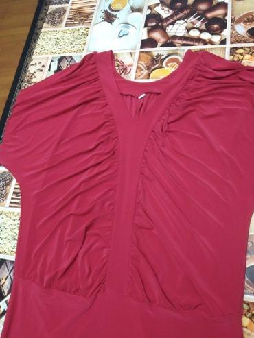 Женское платье 52 размер бордовый цвет в Сокулук