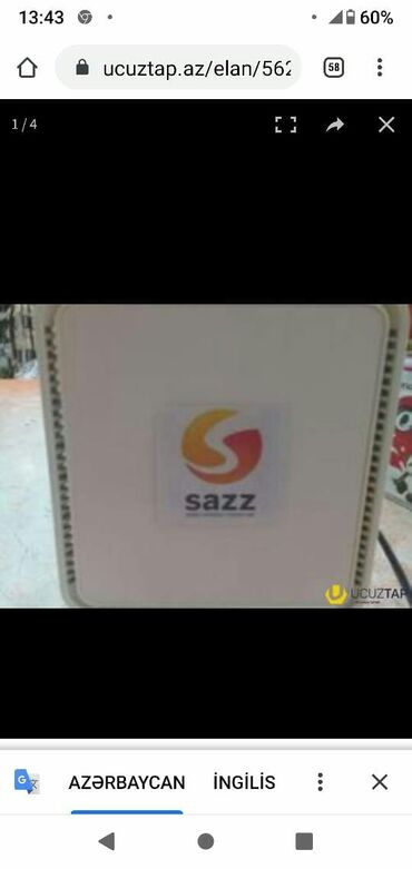 sazz ix380 - Azərbaycan: Sazz modemi