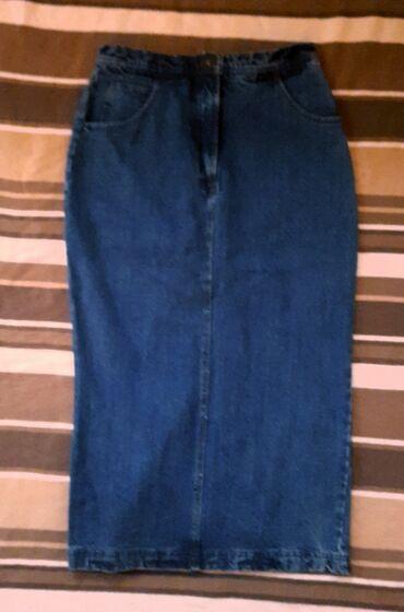 Odlična teksas duga suknja. Mnogo kvalitetan teksas. Model je zimski i