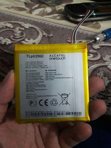 alcatel-ot-1046g - Azərbaycan: TLp025GC Alcatel batareyka telfon sonub