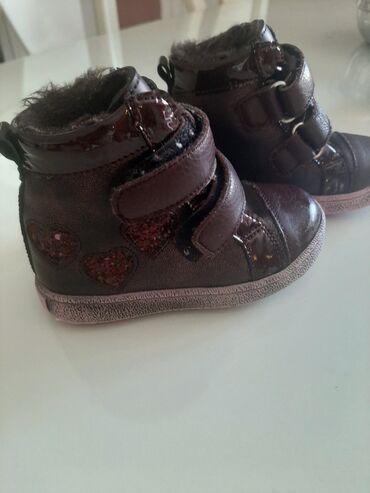 Kozne cipele - Srbija: TODOR cizme za devojcice, SAMO JEDNOM OBUVENE. Broj 21, prava koza