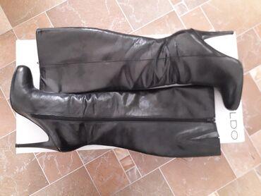 Aldo cizme - Srbija: Kozne cizme Aldo, broj 39.Visina stikle 10, 11cm, jedino ostecenje
