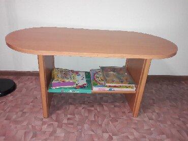 столик детски в Кыргызстан: Продаю журнальный столик, цвет ольха. Размеры: длина 110, высота 53