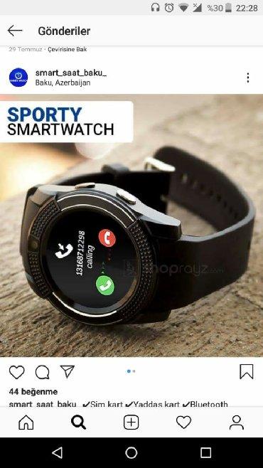 bmw v8 - Azərbaycan: Smart Watch satılır v8 model tezedi üstündə əlavə batareyka hədiyə