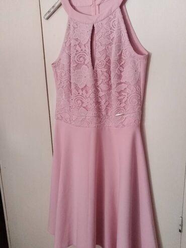 12 oglasa: Puder roze cipkana haljina,Rouge haljine,velicina L,nova