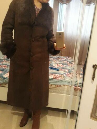 летнее платье 48 размера в Кыргызстан: Натуральная дубленка . Цвет коричневый. размер 46-48