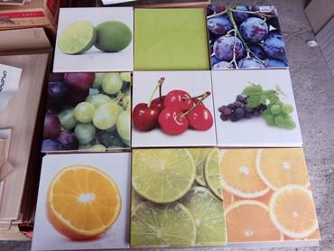 Кафель фрукты 20*20 см, остались лишние, в Бишкек