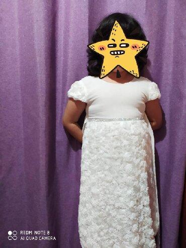 платье для мамы и дочки на годик в Кыргызстан: Платье белое на девочек лет 6-8 лет Красивое нежное платье на девочку