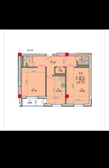 сколько стоит утеплить дом в бишкеке в Кыргызстан: Элитка, 2 комнаты, 69 кв. м