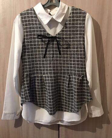 Двойка рубашка + жилетка в хорошом состоянии размер подойдёт на 42-44