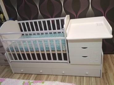 футболки детские подростковые в Кыргызстан: Детская кроватка трансформер 3в1.малая кровать с двух уровневой ложей