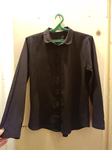 Черная рубашка лёгкая тонкая в Бишкек