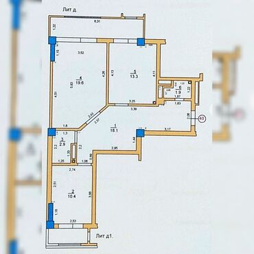 кду 2 бишкек в Кыргызстан: Продается квартира: 2 комнаты, 77 кв. м