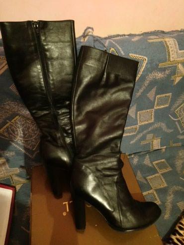 Зимние кожаные сапоги 39 р. Одевались в Бишкек
