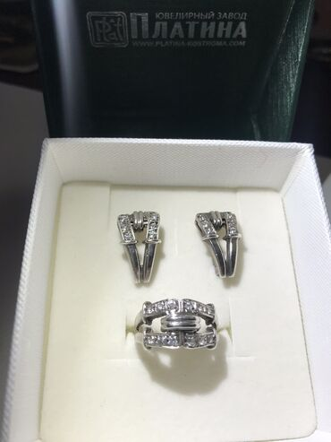Аксессуары - Бишкек: Настоящее качественное серебро с цирконом   Размер кольца 17-17,5  Про