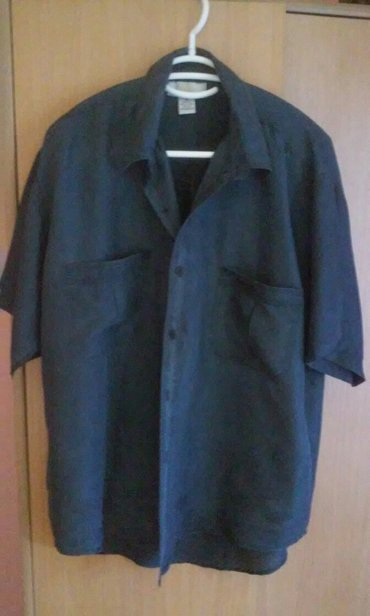 Lepa svilena muska kosulja,XL,uvek moderna,prelepa teget boja,obucena - Vrnjacka Banja