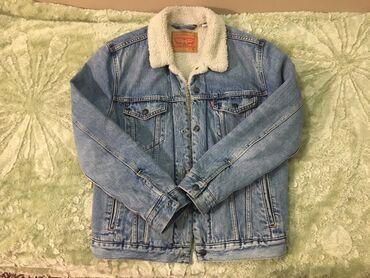 Модная мужская джинсовая куртка с мехом «Levi Strauss»Состояние почти