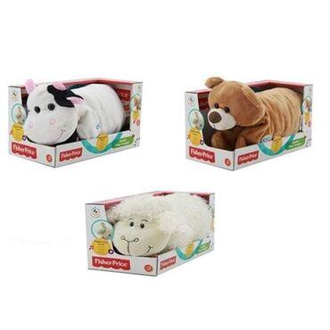 Jastuk Plišana igračka meda krava Ovca Fisher Price 733973 je mekana