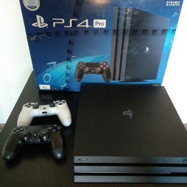 Sony PS4 Pro с поддержкой 4K, состояние идеальное, в комплекте коробка