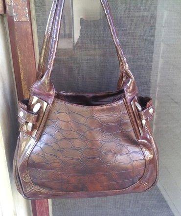 Kožna torba sa felerom nekorišćena kožna torba, kombinacija prirodne - Beograd