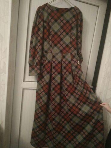 hd 1500 в Кыргызстан: Платье на осень, женское длинное отличное качество почти не одевали