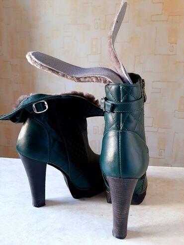 Продаю лионовские новые кожаные, меховые ботильоны 36, 37, 48 размер
