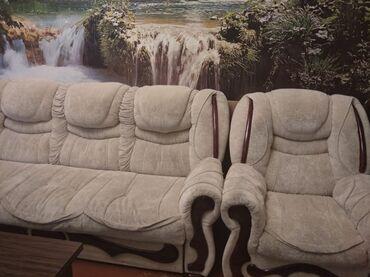 Divan iki kreslo divan acilib krovatt kimi de olur cix mohkem seligeli