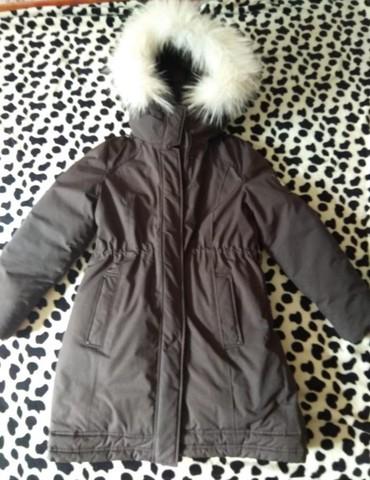 Фирменная зимняя куртка, парка, очень теплая, 44 размер,состояние