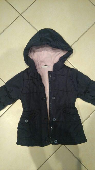 Dečije jakne i kaputi | Smederevo: Zimska jaknica za devojčice Vel 80 boja teget, ocuvana bez oštećenja