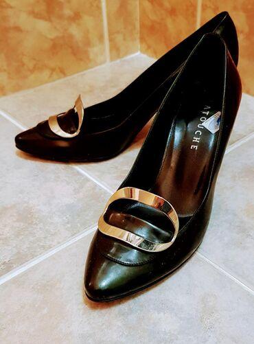 Туфли хамелеон черные- темно зеленые. Размер 38