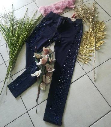 Pantalone-italijinemaju-elastin - Srbija: Pantalone vrhunske sa CIRKONIMA PAMUK ELASTIN vel S M