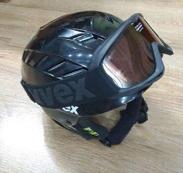 Лыжи - Бишкек: Б/У горнолыжный шлем в отличном состоянии.Размер 53-58 на ребенка 7-10
