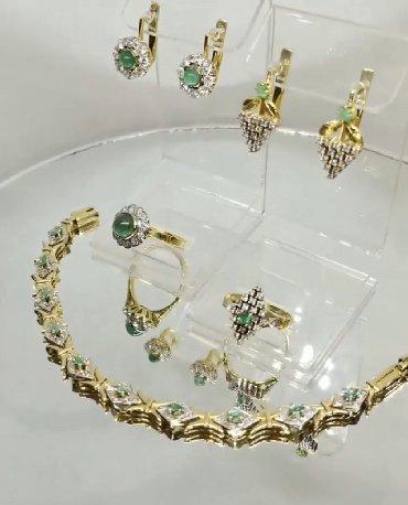Бриллиант печатка - Кыргызстан: Изумрудная красота шикарный комплект из золота,бриллиантов и изумрудо